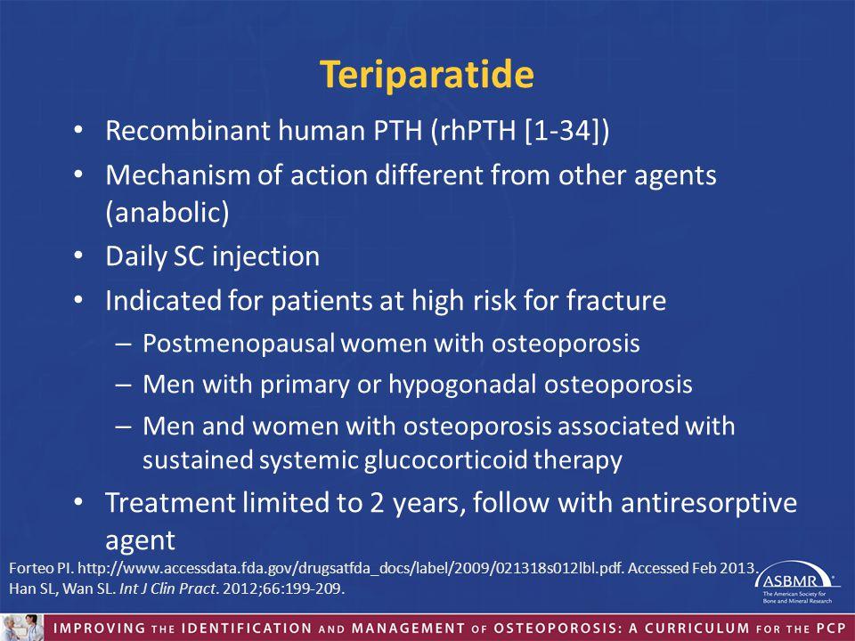 Teriparatide Recombinant human PTH (rhPTH [1-34])